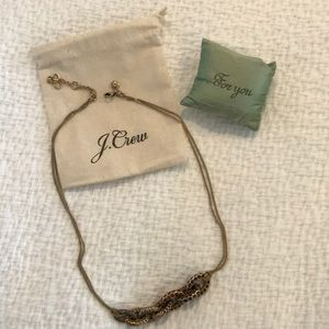 Beautiful J. Crew Pave Chain Necklace